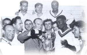Presentation of the League Championship Trophy in 1962