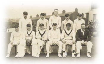 1930 team with professional, J Threlfall